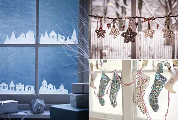 Декор своими руками: 10 вариантов стильного оформления окон к Новому году
