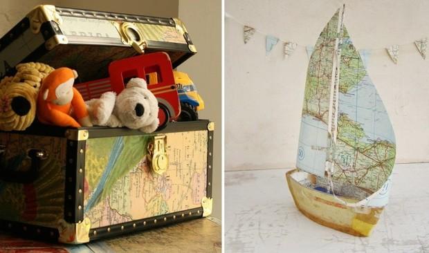 Географические карты в декоре интерьера: 12 необычных идей