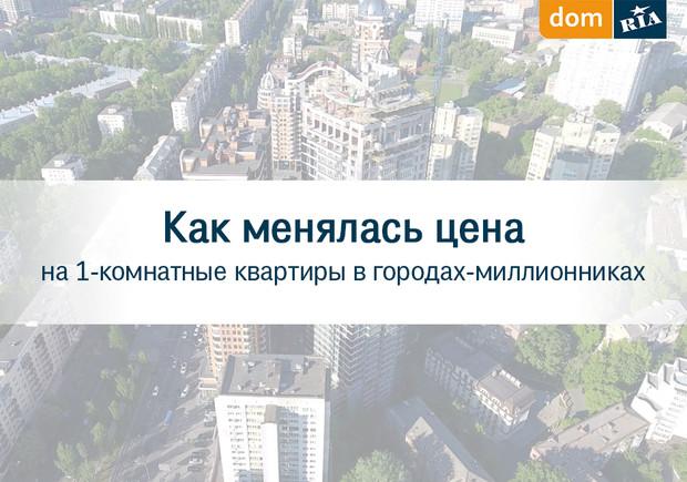 Как менялась цена на 1-комнатные квартиры в городах миллионниках