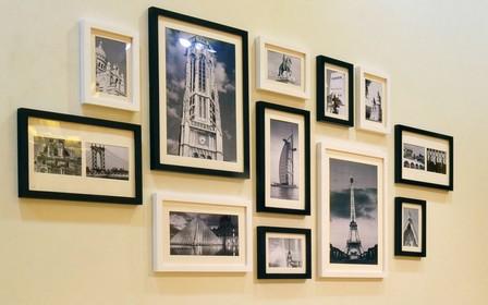 Как повесить фотографии на стену