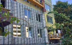 Ход строительства: обустройство вентилируемого фасада