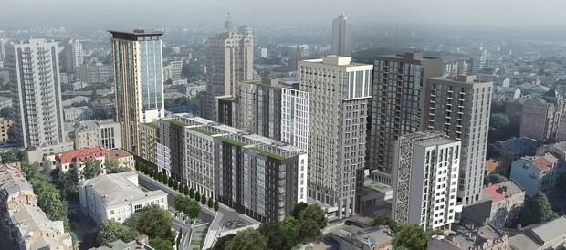 Киев: На месте снесенного Сенного рынка уже начали строить и продавать жилые