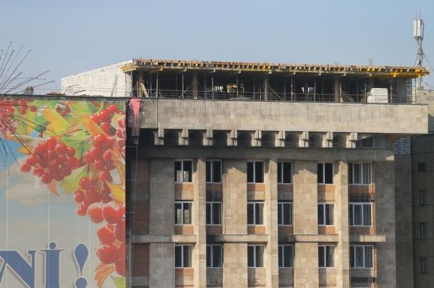 Киевскому Дому Профсоюзов пристроили новый этаж