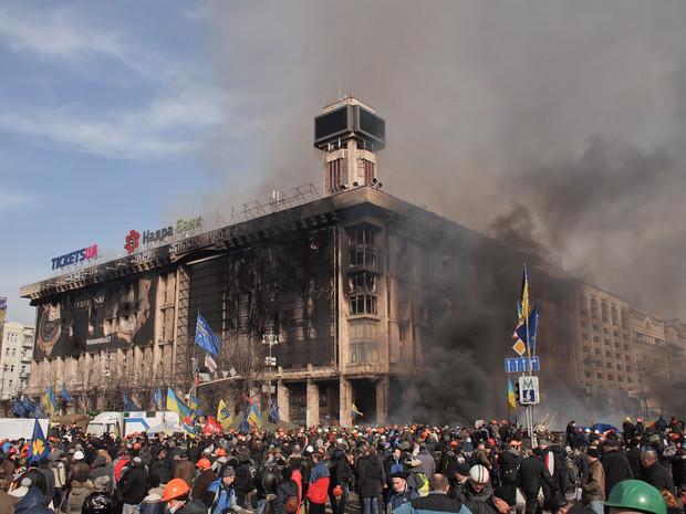 Немецкие строители обещают помочь Киеву с ремонтом Дома профсоюзов