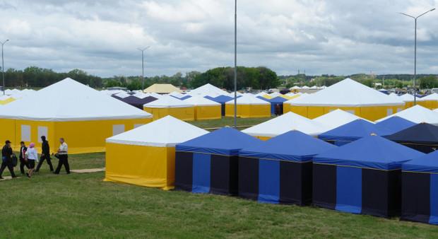 Переселенцев из Донбасса будут размещать в палаточных городках