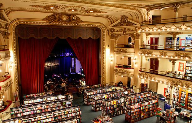 Самые красивые и необычные здания мира: Эль Атенео – книжный магазин в Аргентине