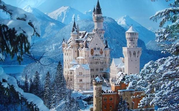 Самые красивые и необычные здания мира: Замок Нойшванштайн, Германия