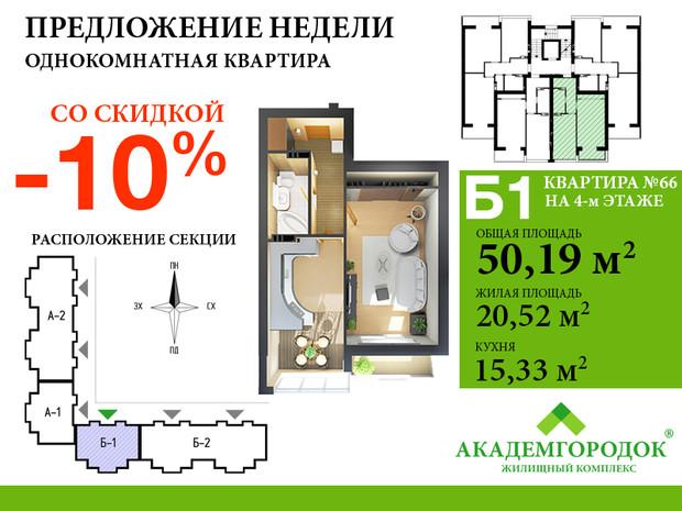 Специальное предложение при покупке квартиры в ЖК «Академгородок»!