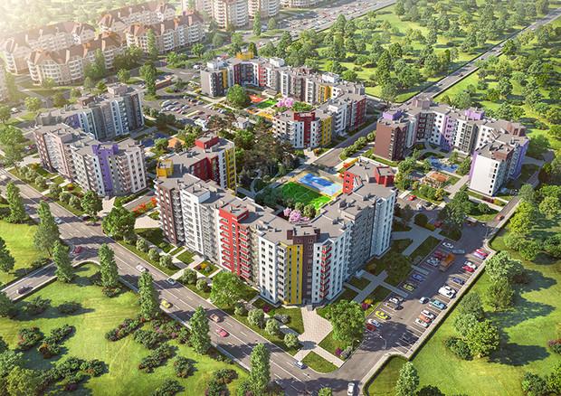 """Стоимость квартиры в жилом массиве """"Нова Буча"""" стартует от 9000 грн за м2."""