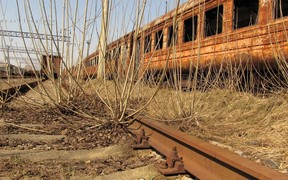 В Чернобыльской зоне начали строить новую железную дорогу