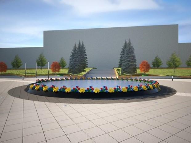 В Днепропетровске установят памятник-бассейн в память о Небесной Сотне
