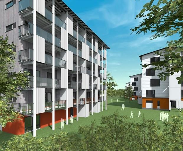В Финляндии появится квартал деревянных многоэтажек