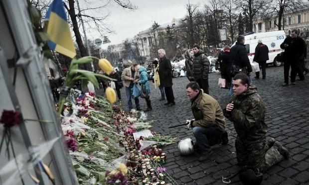 В Киеве создали аллею «Небесной сотни»