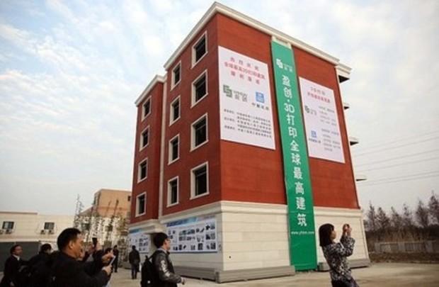 В Китае на 3D-принтере напечатали 5-этажный жилой дом (фото)