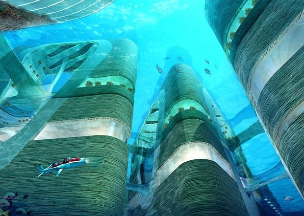 В Китае построят мегаполис с небоскребами под водой (фото)