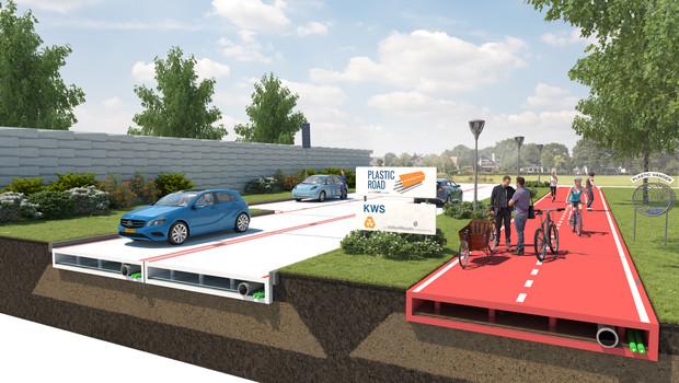 В Нидерландах начинают строительство пластиковых дорог