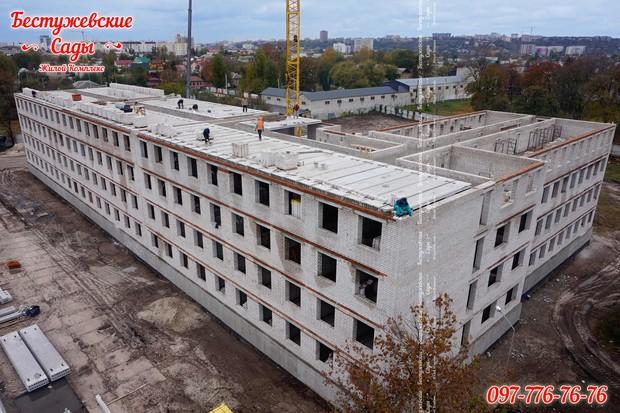 В ЖК «Бестужевские Сады» перекрывается уже четвертый этаж!