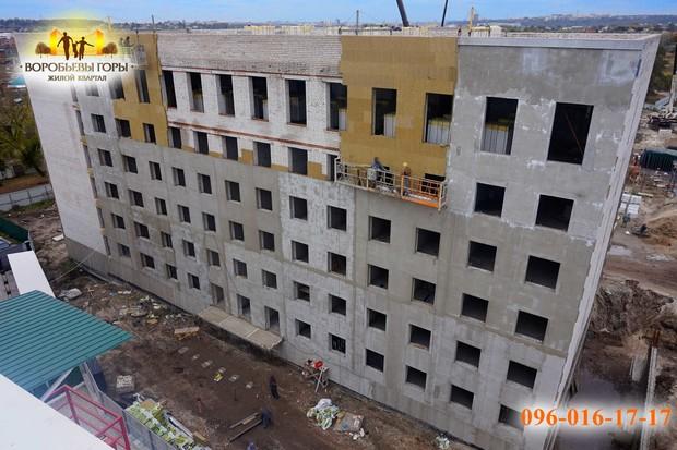 В ЖК «Воробьевы горы-6» уже достроен последний этаж!