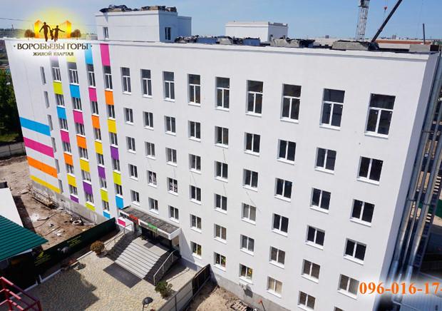 В ЖК «Воробьевы горы-6» выполняется окрашивание фасада!
