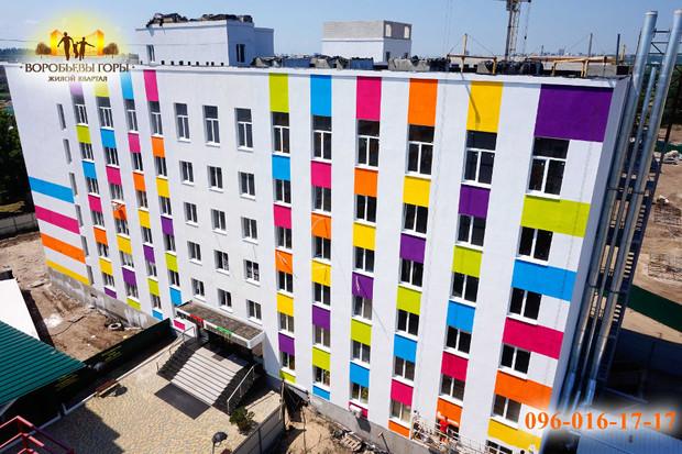 В ЖК «Воробьевы горы-6» завершается окрашивание фасада!