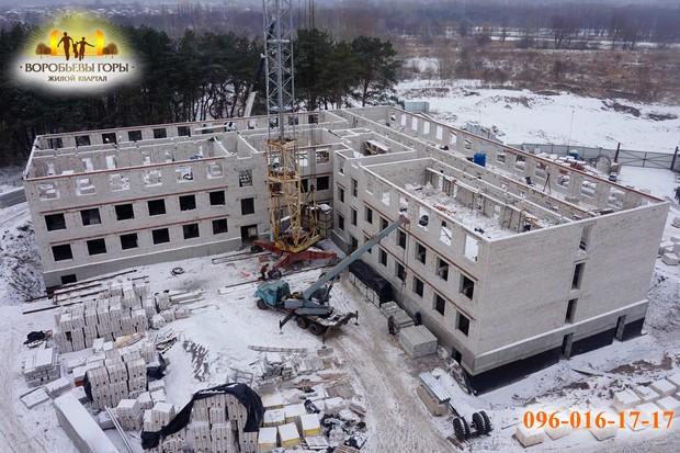 В ЖК «Воробьевы горы-7» построен 3-й этаж