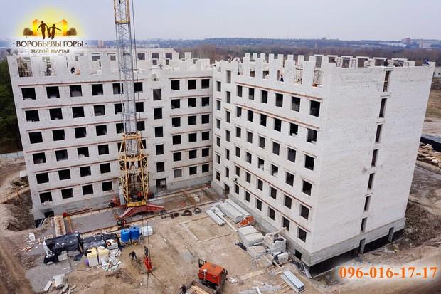 В ЖК «Воробьевы горы-7» возводятся внутренние стены 7-го этажа!