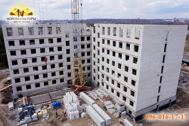В ЖК «Воробьевы горы-7» выполняется подготовка к перекрытию 7-го этажа!
