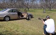 Видео: держит ли пули небронированный Mercedes-Benz S-класса