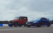 Кто кого? Honda Civic Type R выставили в гонке против Land Rover Defender. ВИДЕО