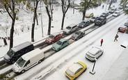 300 ДТП за три часа! Киев застыл в 10-бальных пробках