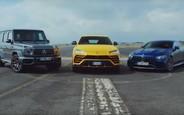 Кто кого? Lamborghini Urus сразился в скорости с Mercedes AMG GT 63 S и G-Class. ВИДЕО