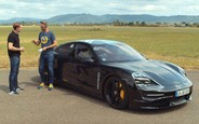 Первый в мире тест-драйв электрического Porsche Taycan. ВИДЕО