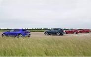 Сила в токе? Toyota Supra сразилась в скорости с тремя электрокарами. ВИДЕО