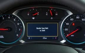 Автомобили Chevrolet не поедут без пристегнутого ремня