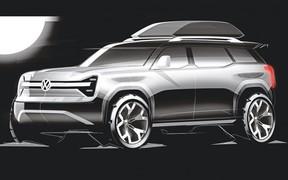 Більше інформації про новий  електрокар Volkswagen [T-Rug на офіційних ескізах]