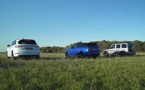 Бои в «грязи». Porsche Cayenne, Range Rover Sport и Mercedes-AMG G-Class сравнили в скорости. ВИДЕО