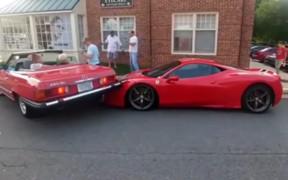 Большой наезд: в Вирджинии женщина припарковалась на Ferrari за $300 тыс.