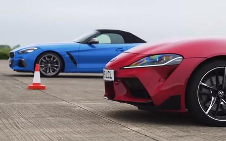 Брат на брата. Toyota Supra выставили в гонке против BMW Z4. ВИДЕО