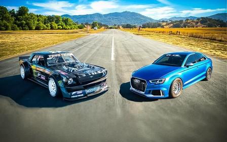 «Единорог» Кена Блока сразился с Audi RS 3. Кто кого? ВИДЕО
