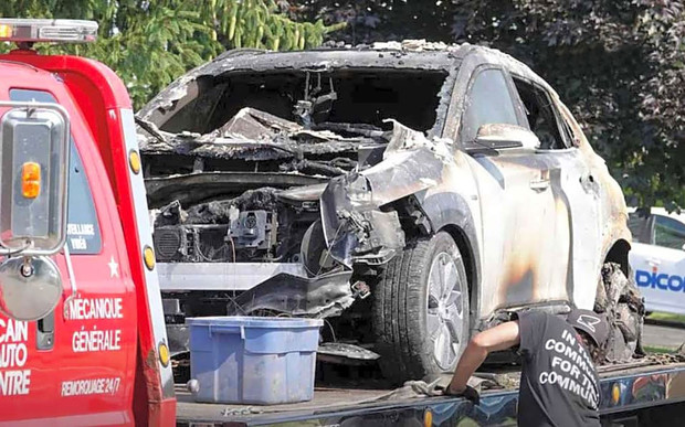 Электрический Hyundai Kona самопроизвольно взорвался в Канаде