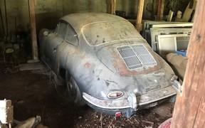 Ездил только в церковь! Простоявший 40 лет Porsche 356B оценили как новый Cayman