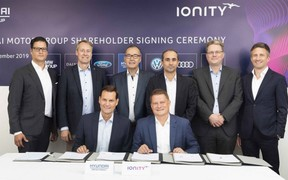 Hyundai Motor Group стала інвестором мережі зарядних станцій IONITY
