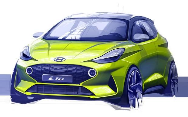 Hyundai Motor показала перший скетч нового покоління i10