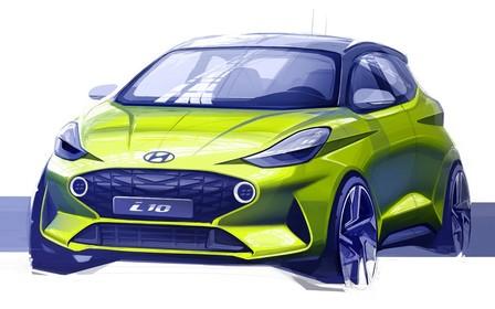 Hyundai Motor показала первый скетч нового поколения i10