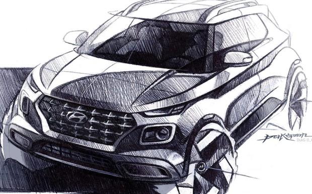 Hyundai Motor продемонструвала ескізи кросоверу Venue.