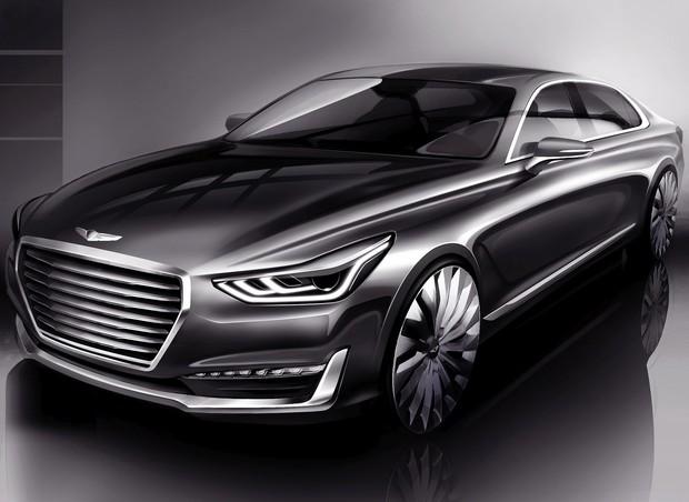 Hyundai показал интерьер седана Genesis G90