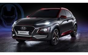 «Hyundai запустила спецверсию кроссовера Kona, посвященную Железному человеку.»
