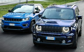 Jeep Renegade и Compass стали гибридами. Цены озвучены!