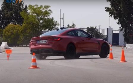 «Хвостиком махнула». Купе BMW M4 Competition «отжигает» на тесте. ВИДЕО