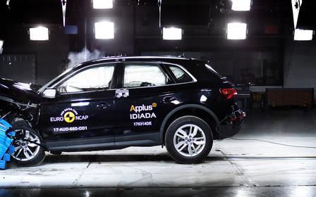 Краш-тесты EuroNCAP: Новый Audi Q5 разбили на пять звезд